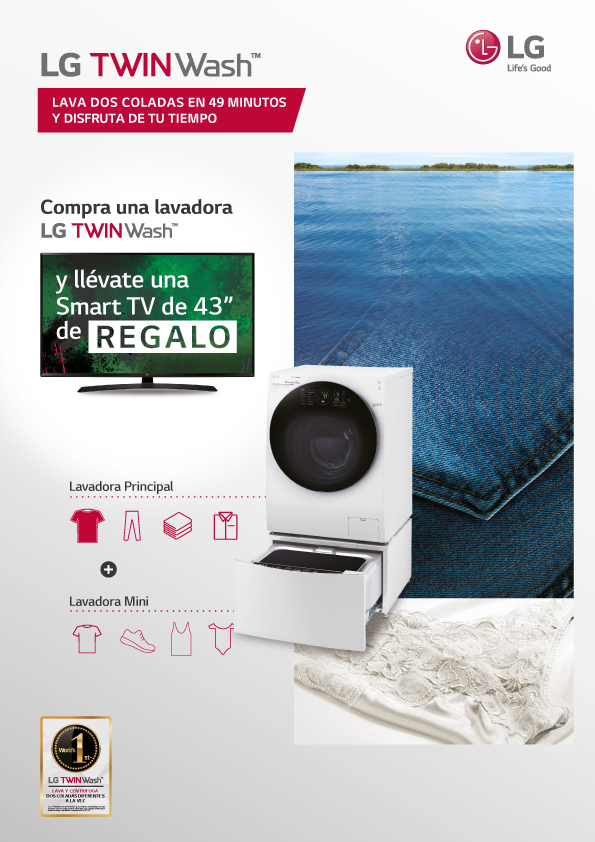 Compra lavadora Twin WASH y llévate TV de regalo